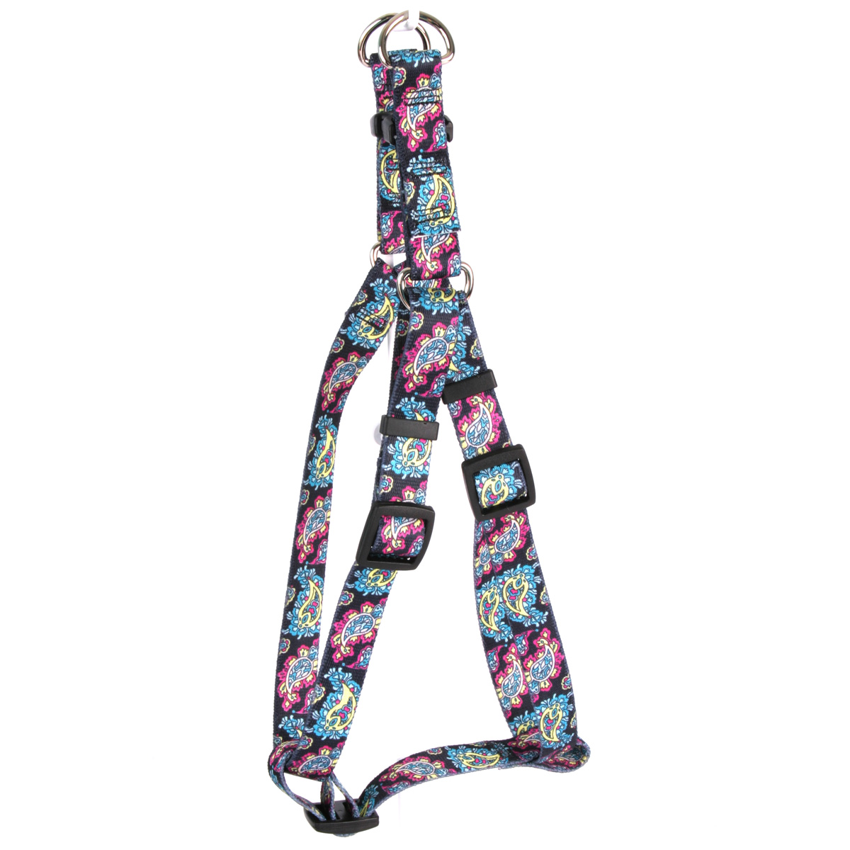 Black Paisley Step-In Harness