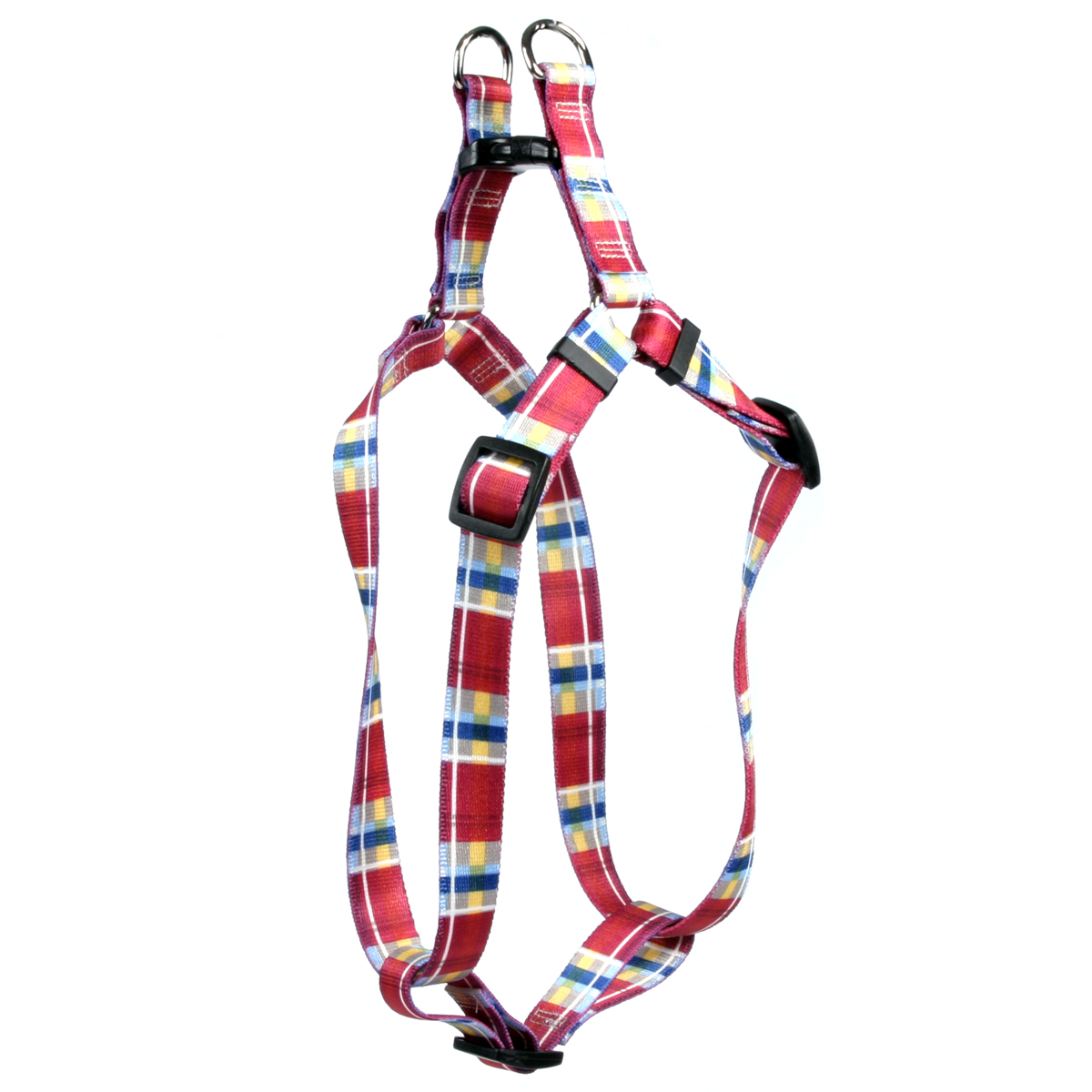 Madras Burgundy Step-In Harness