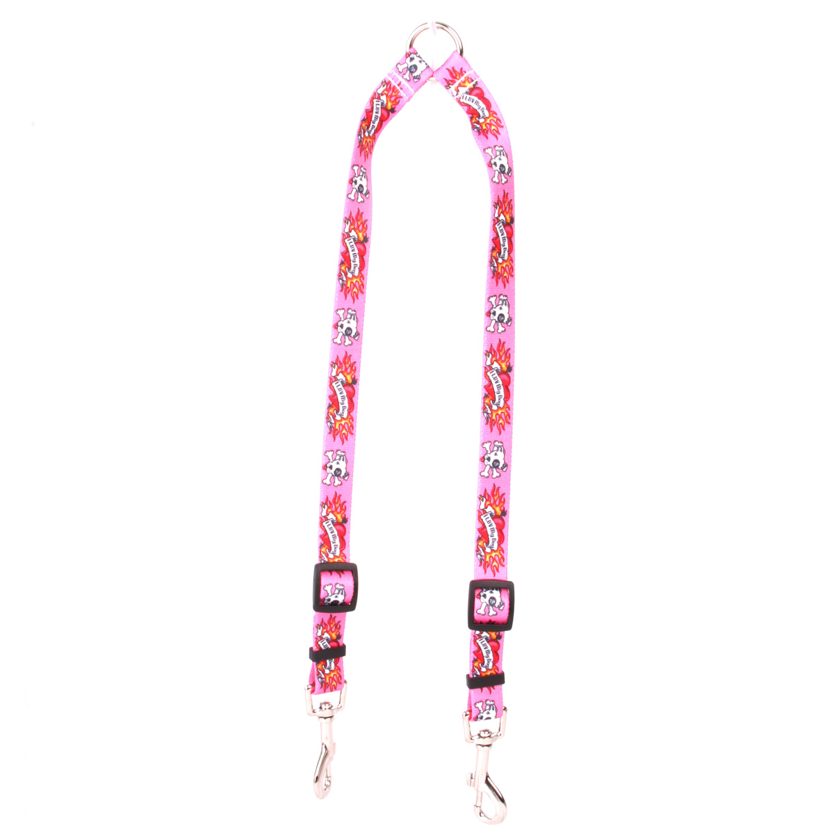 I Luv My Dog Pink Coupler Lead