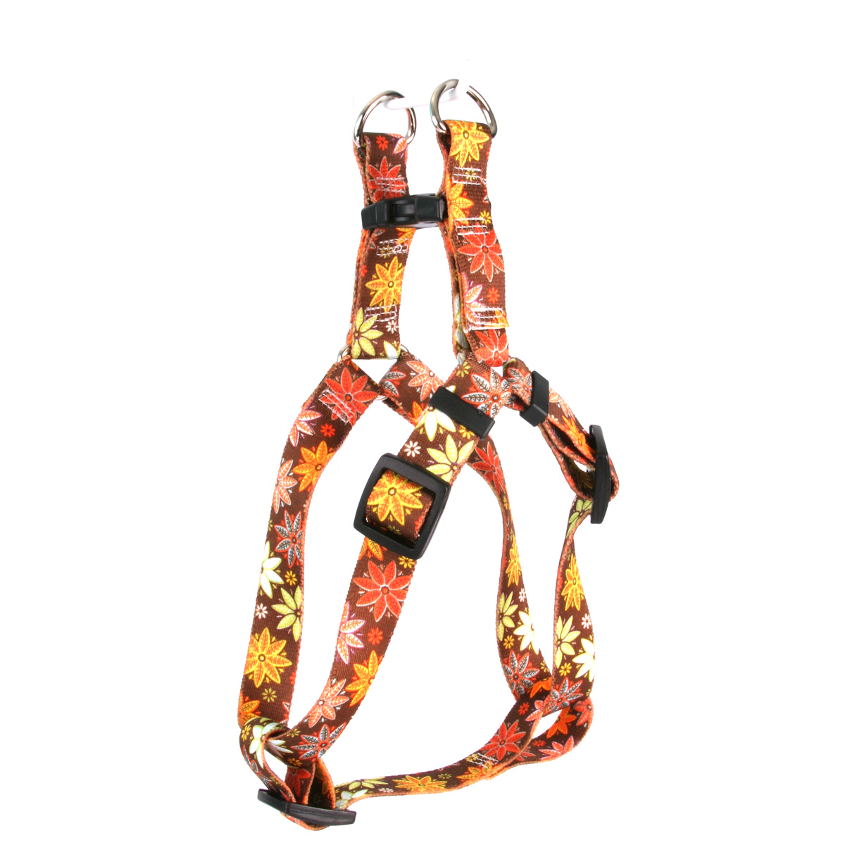 Autumn Flowers Step-In Harness
