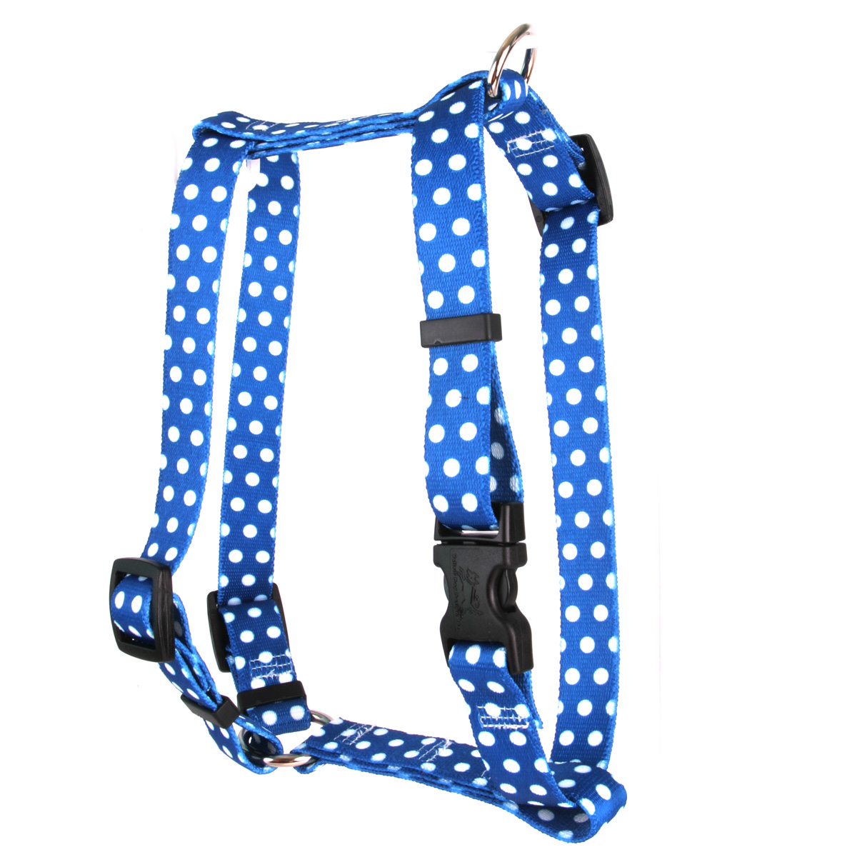 Navy Polka Dot Roman H Harness