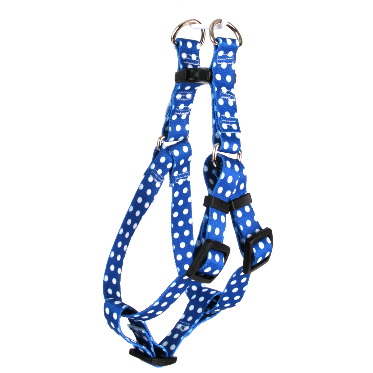 Navy Polka Dot Step-In Harness