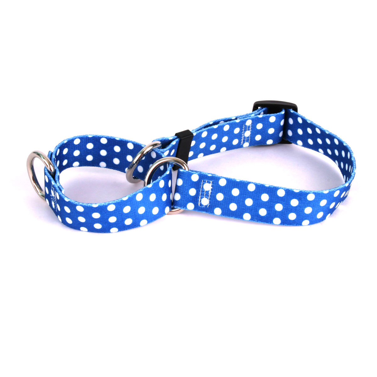 Navy Polka Dot Martingale Collar