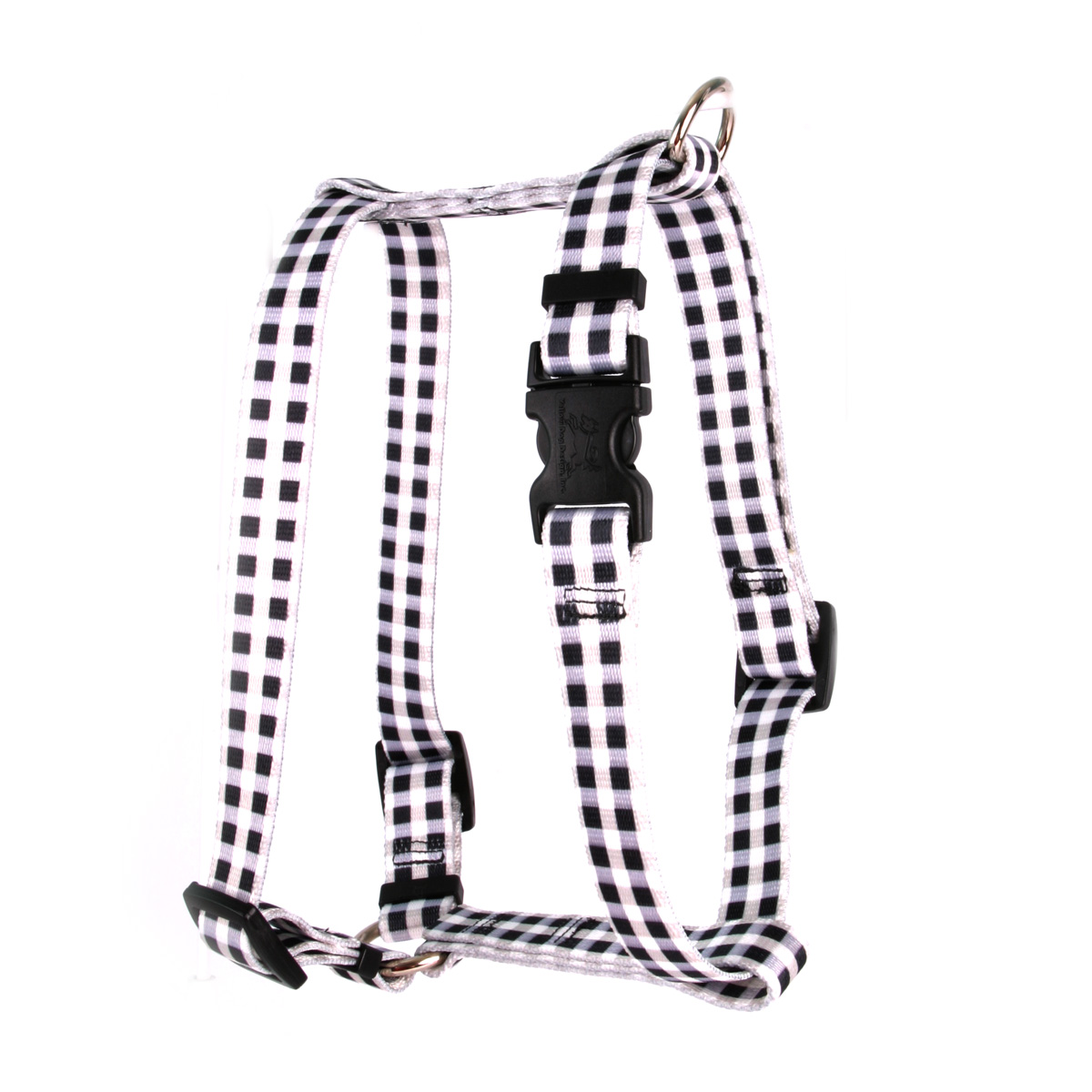 Gingham Black Roman H Harness