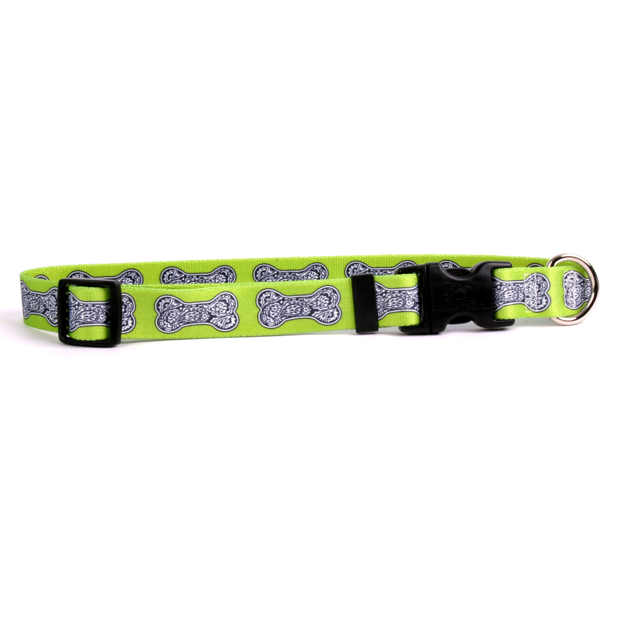 Bella Bone Green Standard Collar