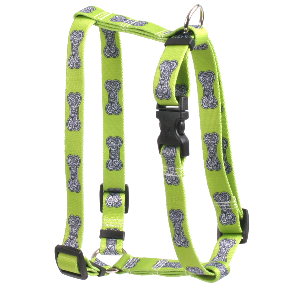 Bella Bone Green Roman H Harness