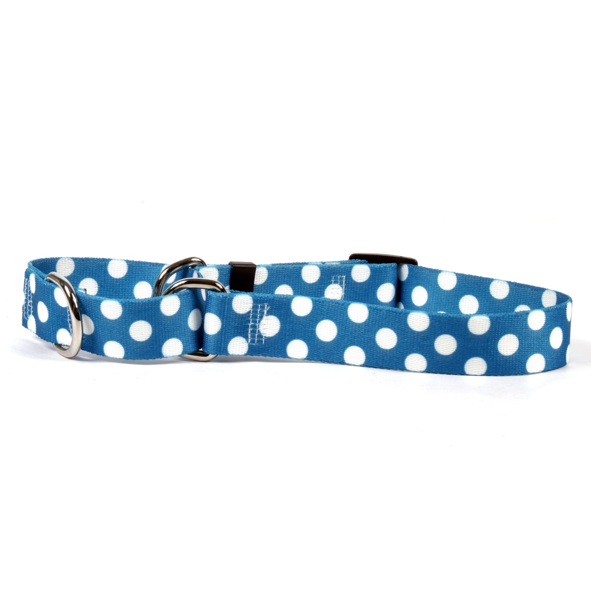 Blueberry Polka Dot Martingale Collar