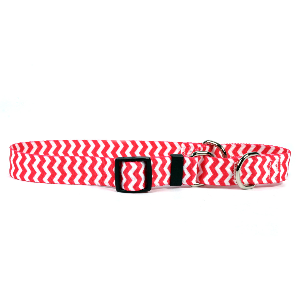 Chevron - Strawberry Martingale Collar