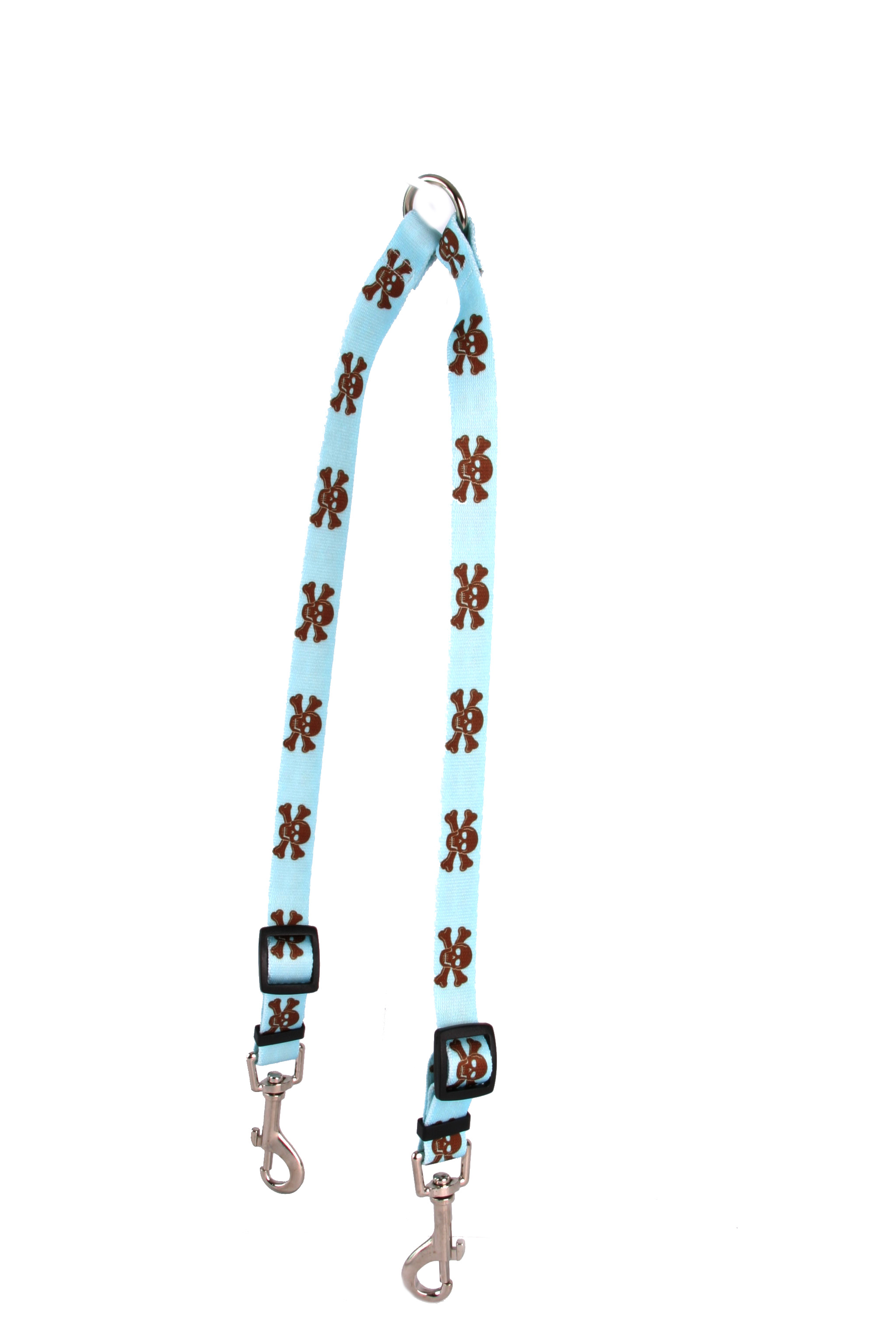 Blue and Brown Skulls Coupler Lead