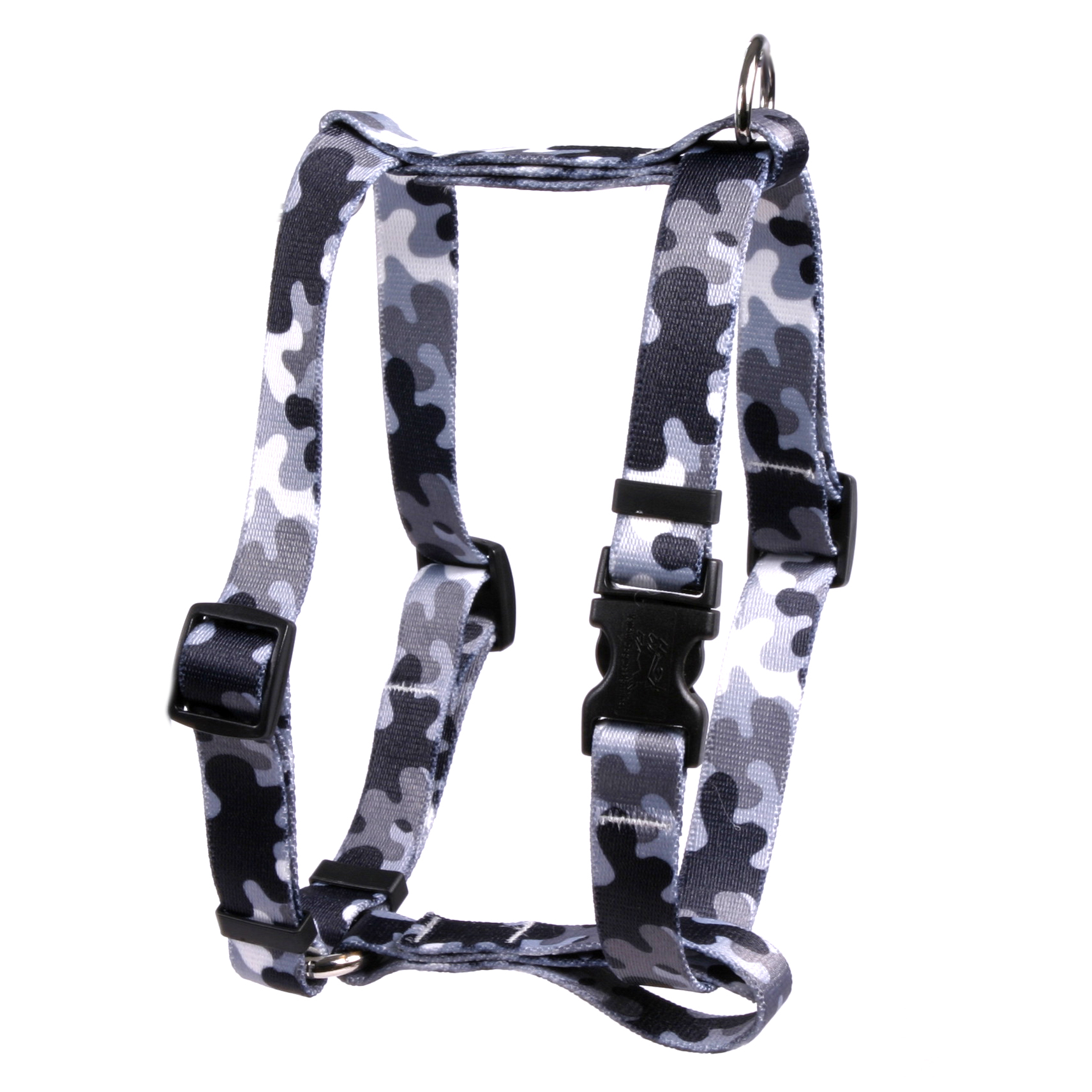 Black and White Camo Roman H Harness