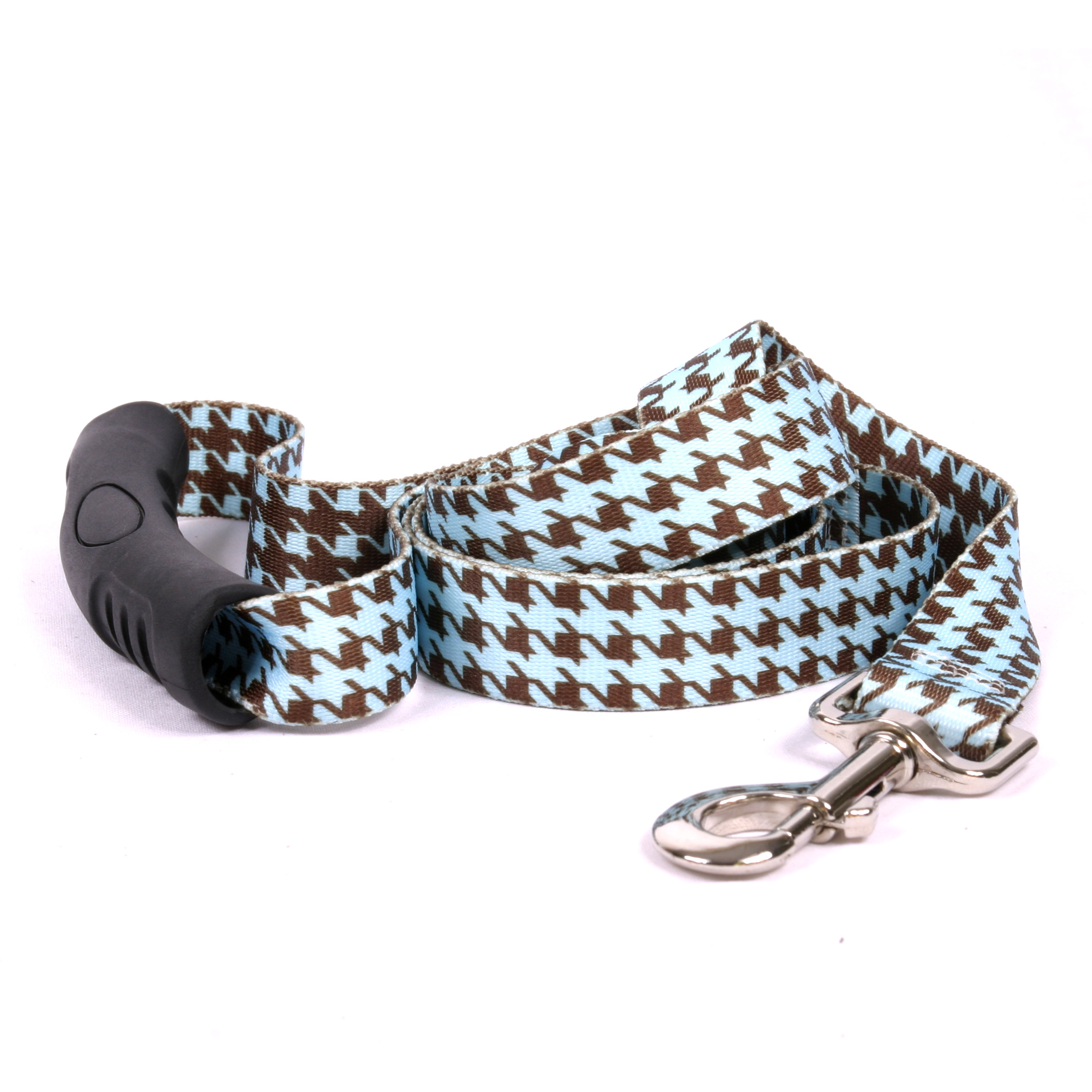 Houndstooth Blue and Brown EZ-Lead