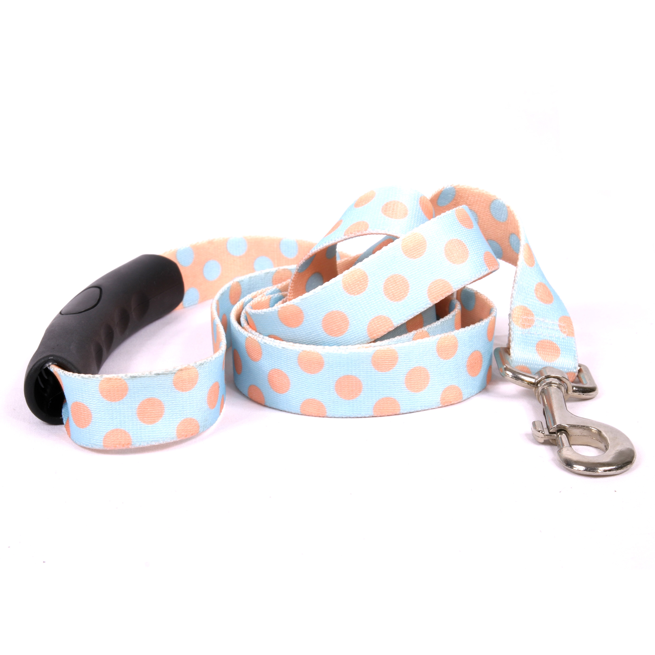 Blue and Melon Polka Dot EZ-Lead
