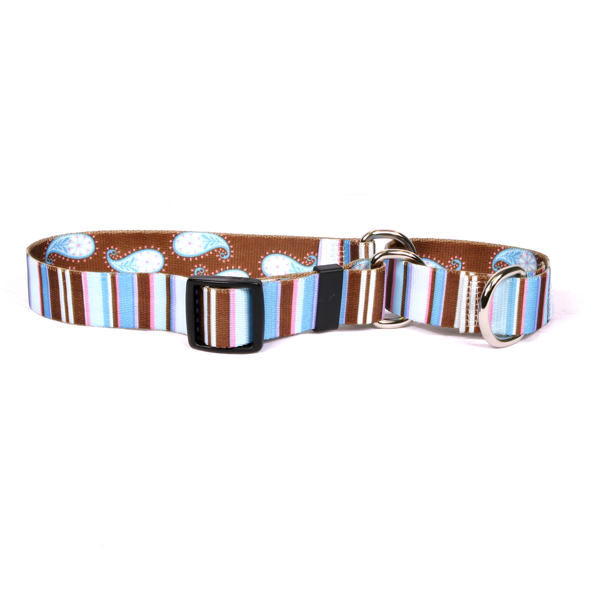 Brown Stripes Martingale Collar