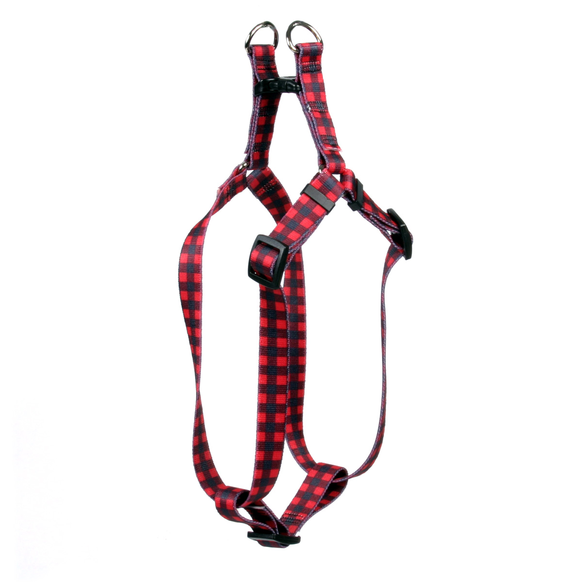 Buffalo Plaid Red Step-In Harness