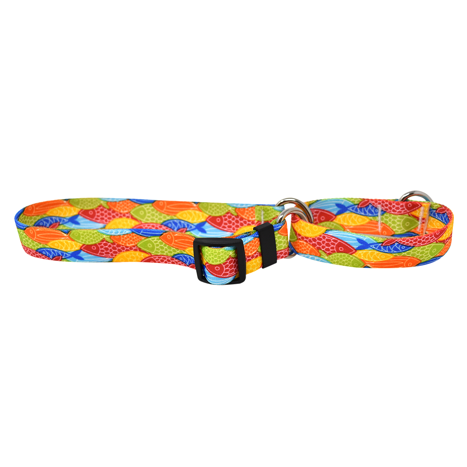Colorful Fish  Martingale Collar