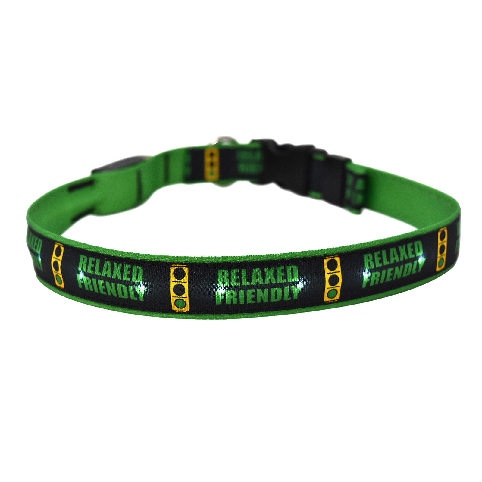 Caution Relaxed Friendly Light ORION LED Dog Collar