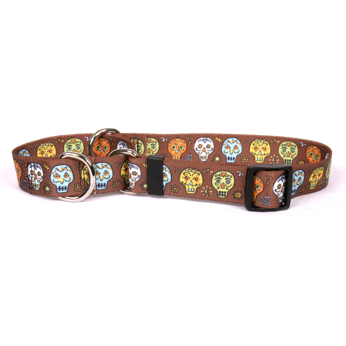 Candy Skulls Martingale Collar