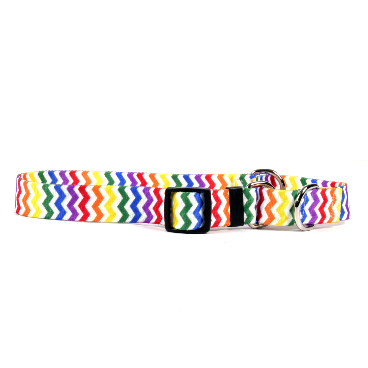 Candy Stripe Chevron Martingale Collar