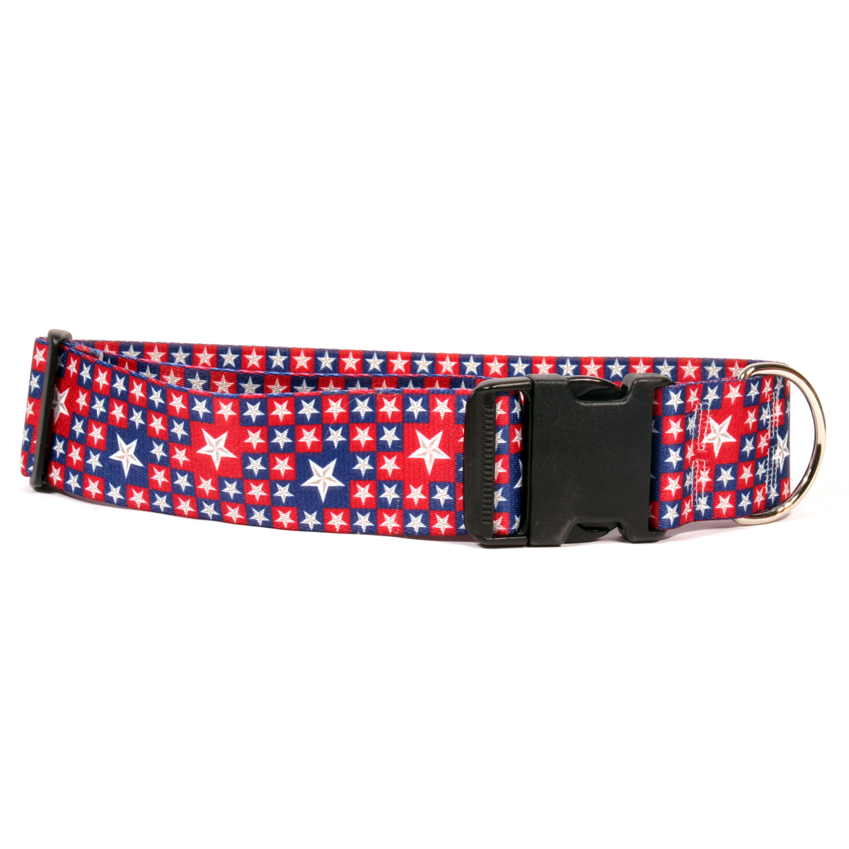 2 Inch Wide Colonial Stars Dog Collar