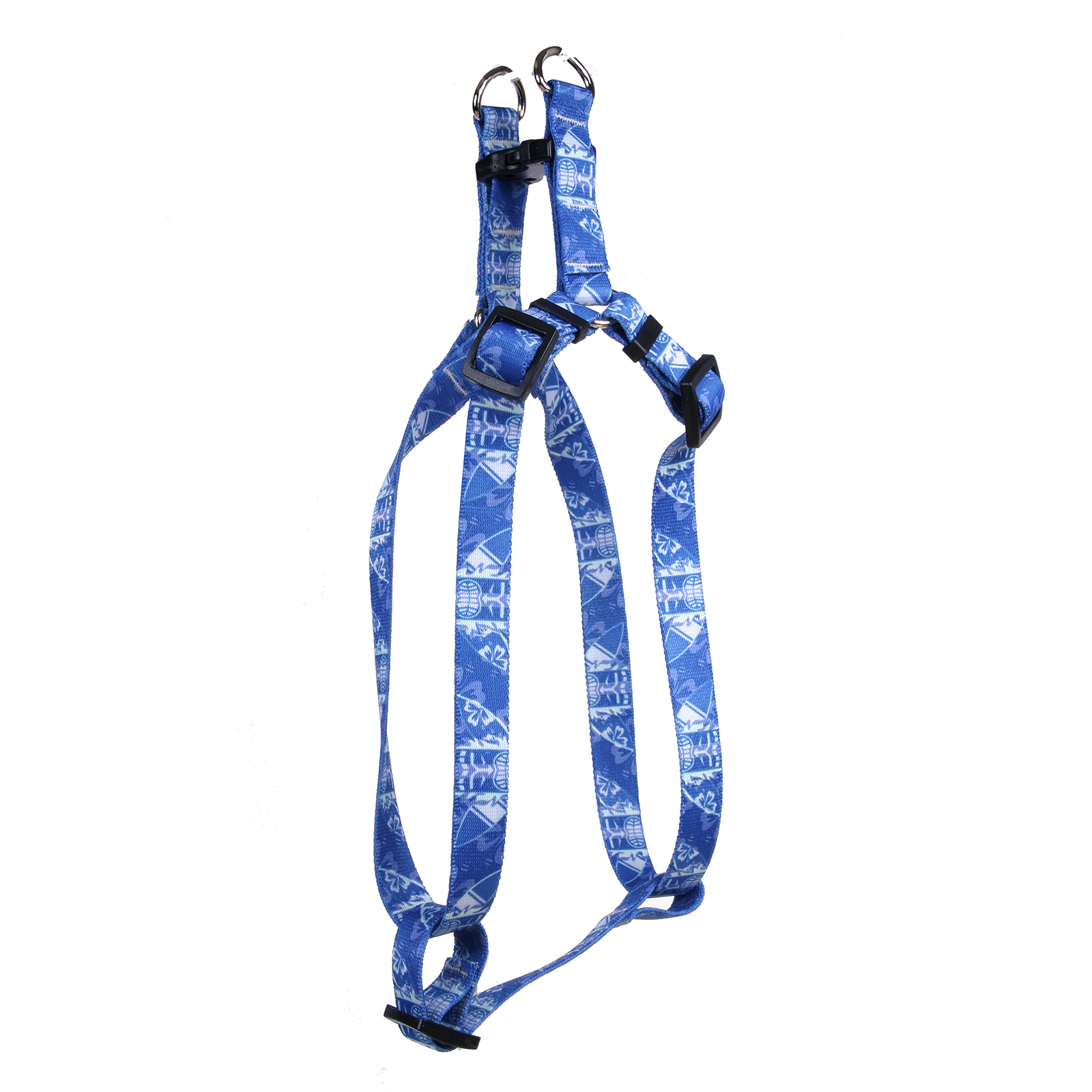 Flaming Tiki Blue Step-In Harness