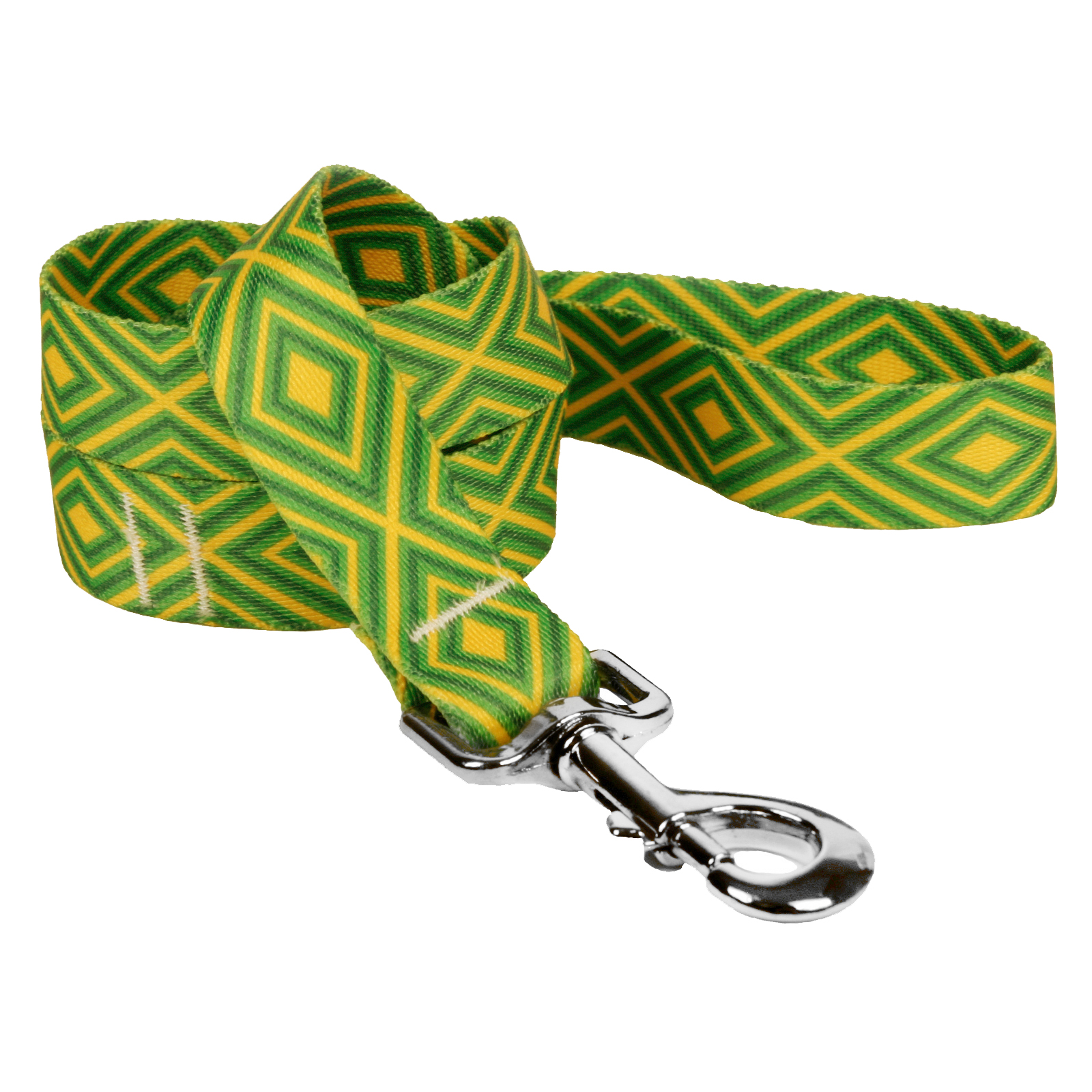 Green and Gold Geometric Lead