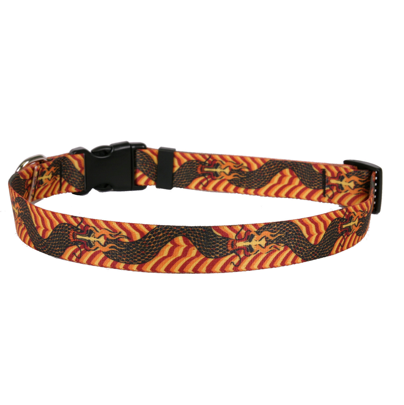 Dragon Wave Orange Standard Collar