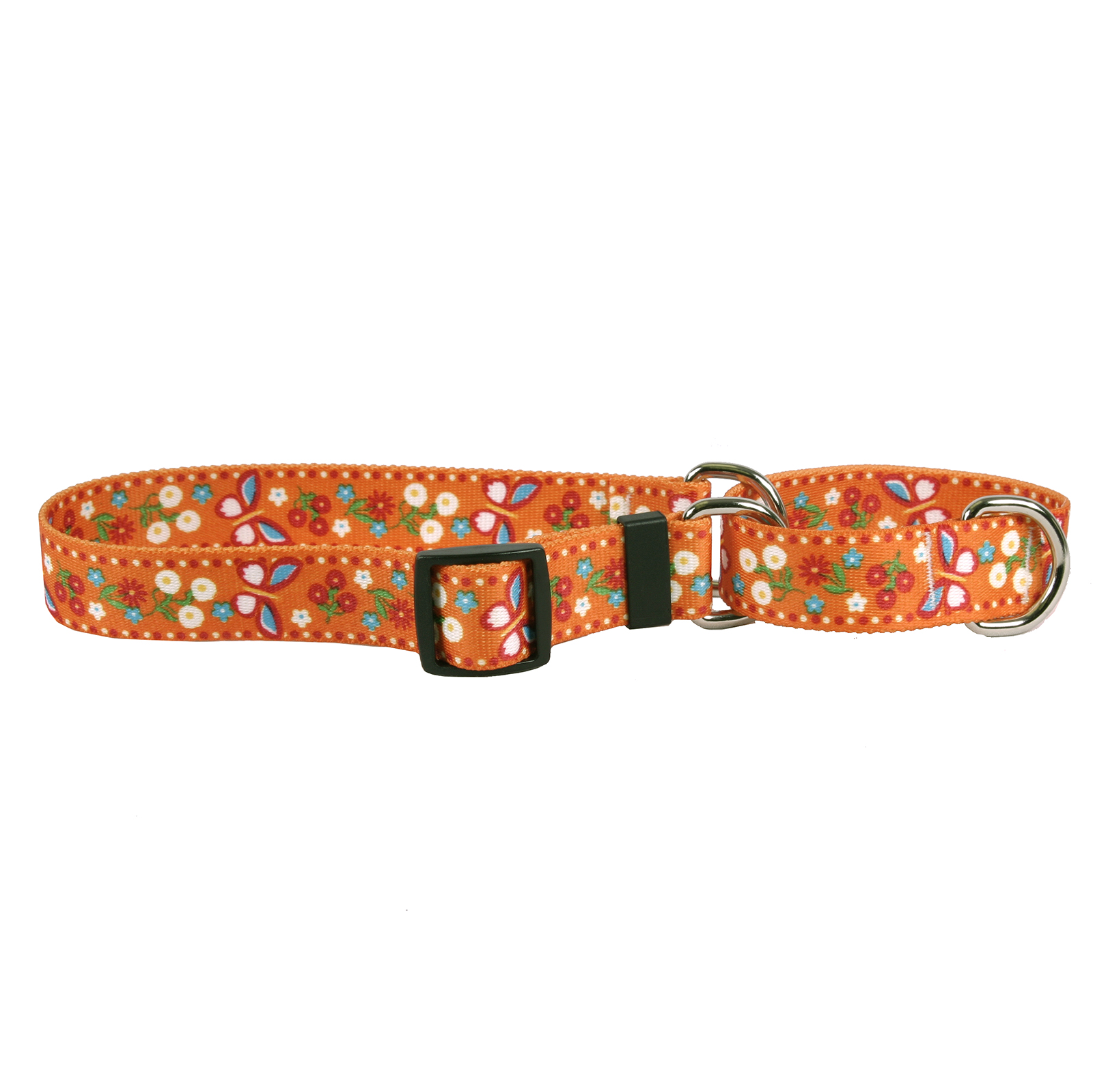 Festive Butterfly Orange Martingale Collar