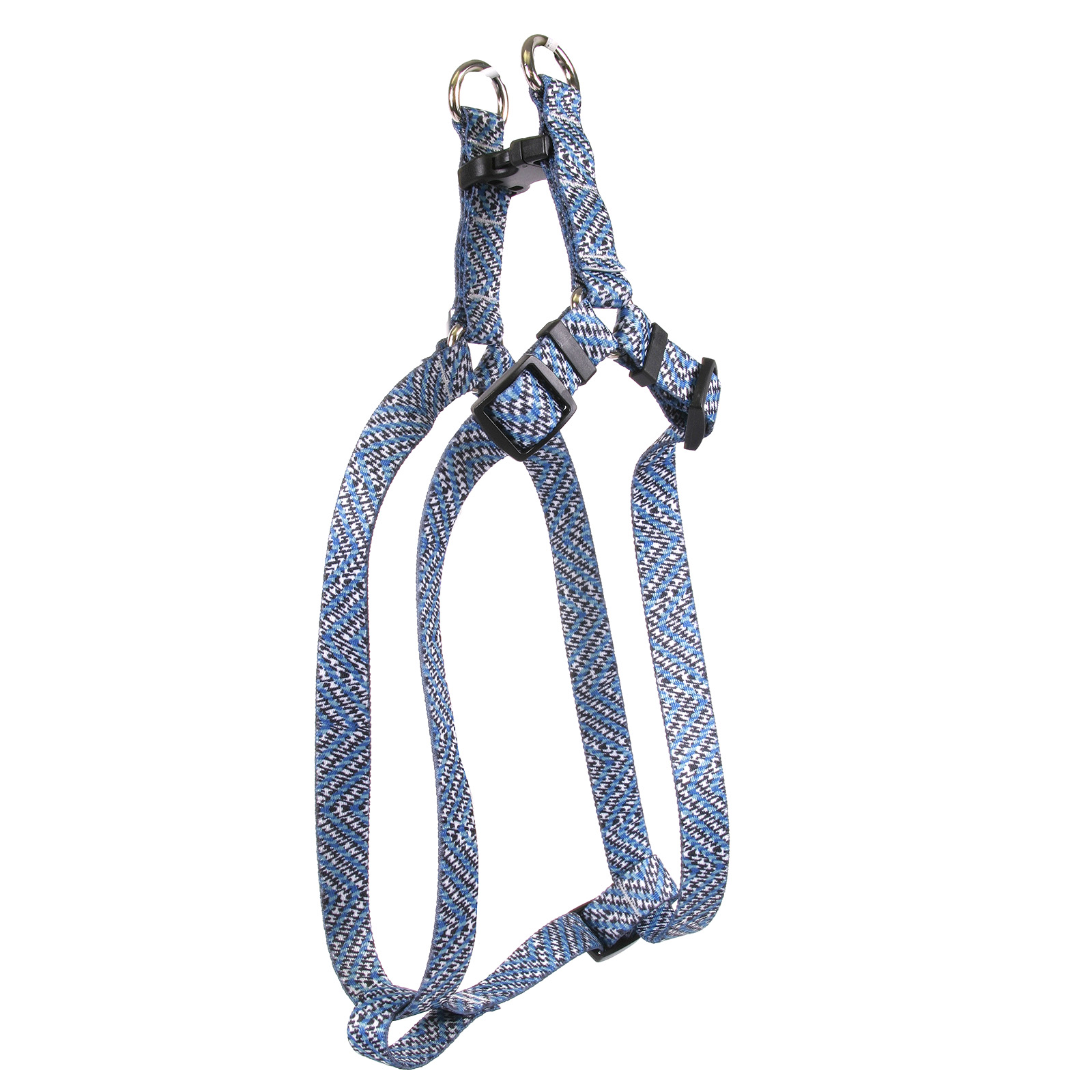 Blue Tweed Step-In Harness