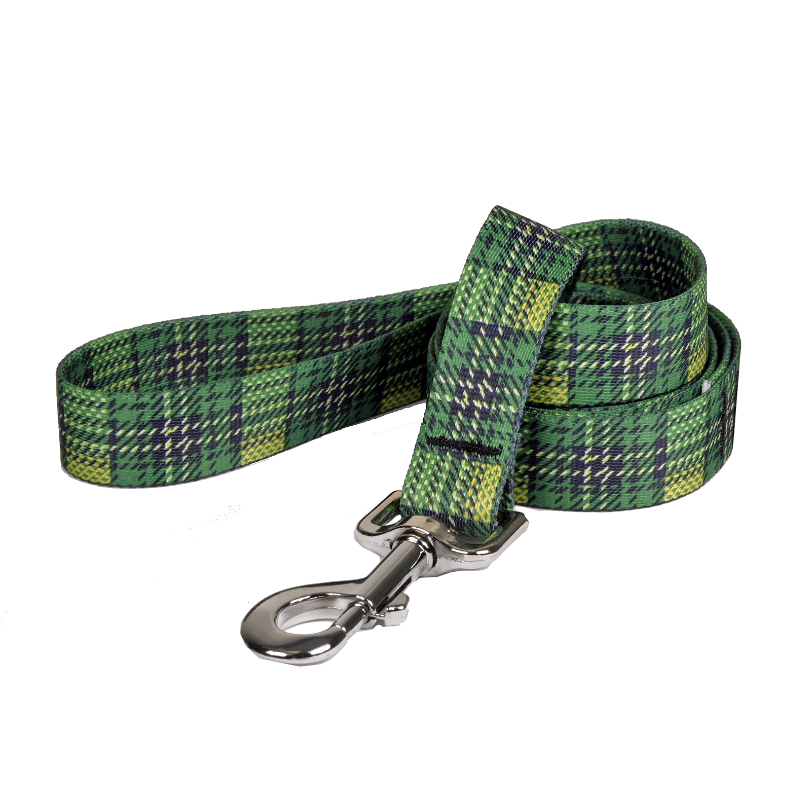 Highland Plaid Green and Gold Lead