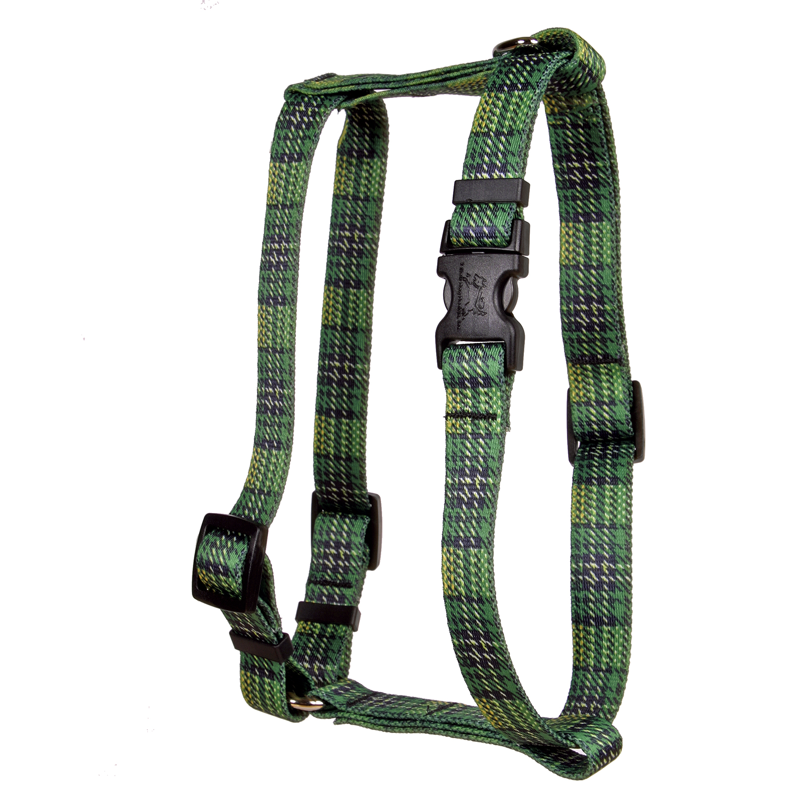 Highland Plaid Green and Gold Roman H Harness