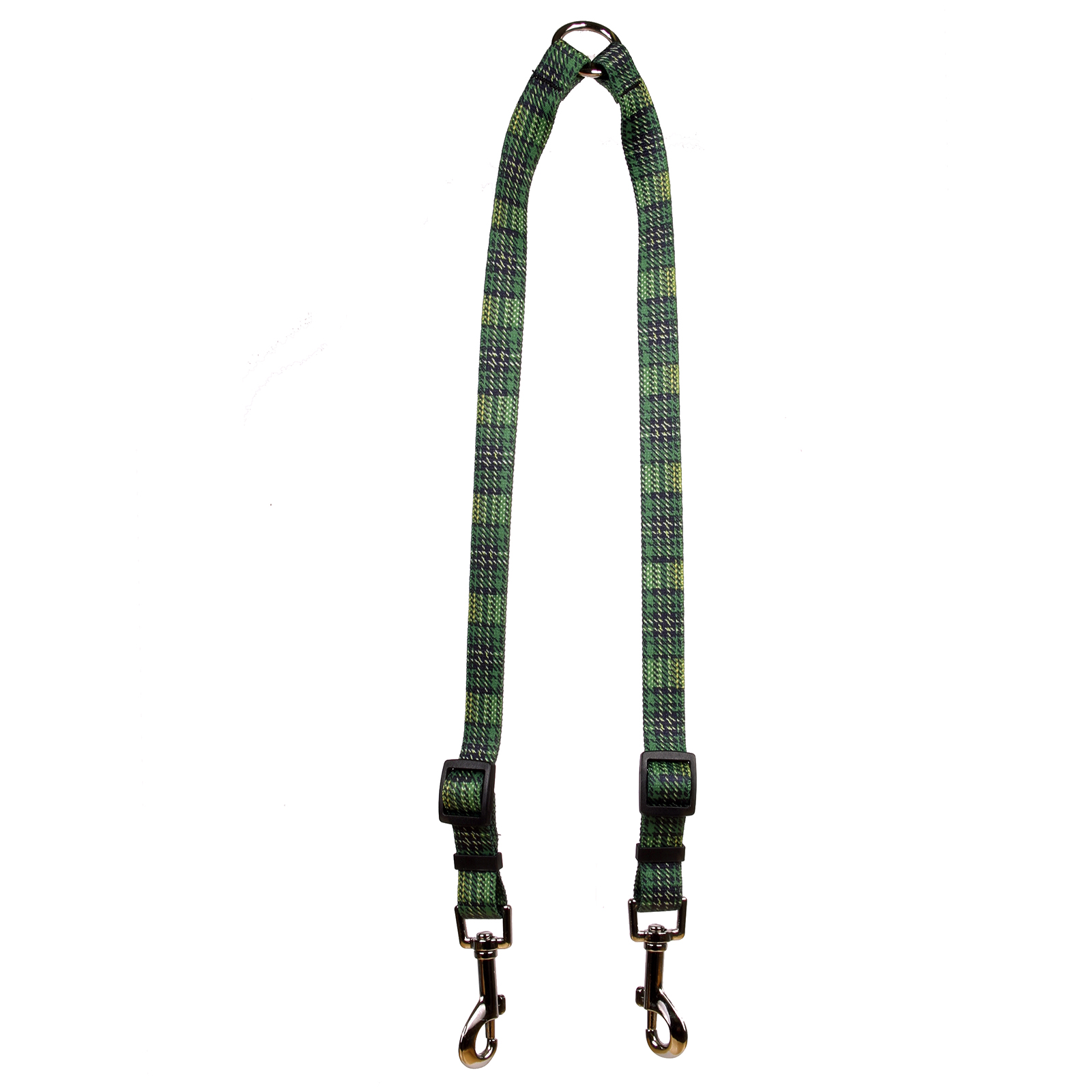Highland Plaid Green and Gold Coupler Lead