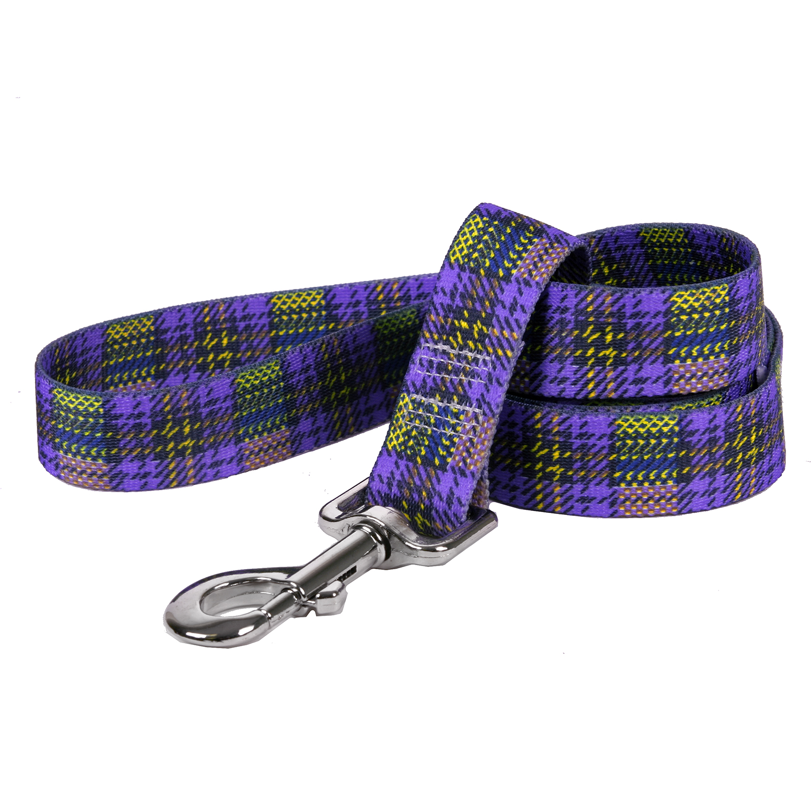 Highland Plaid Purple and Gold Lead