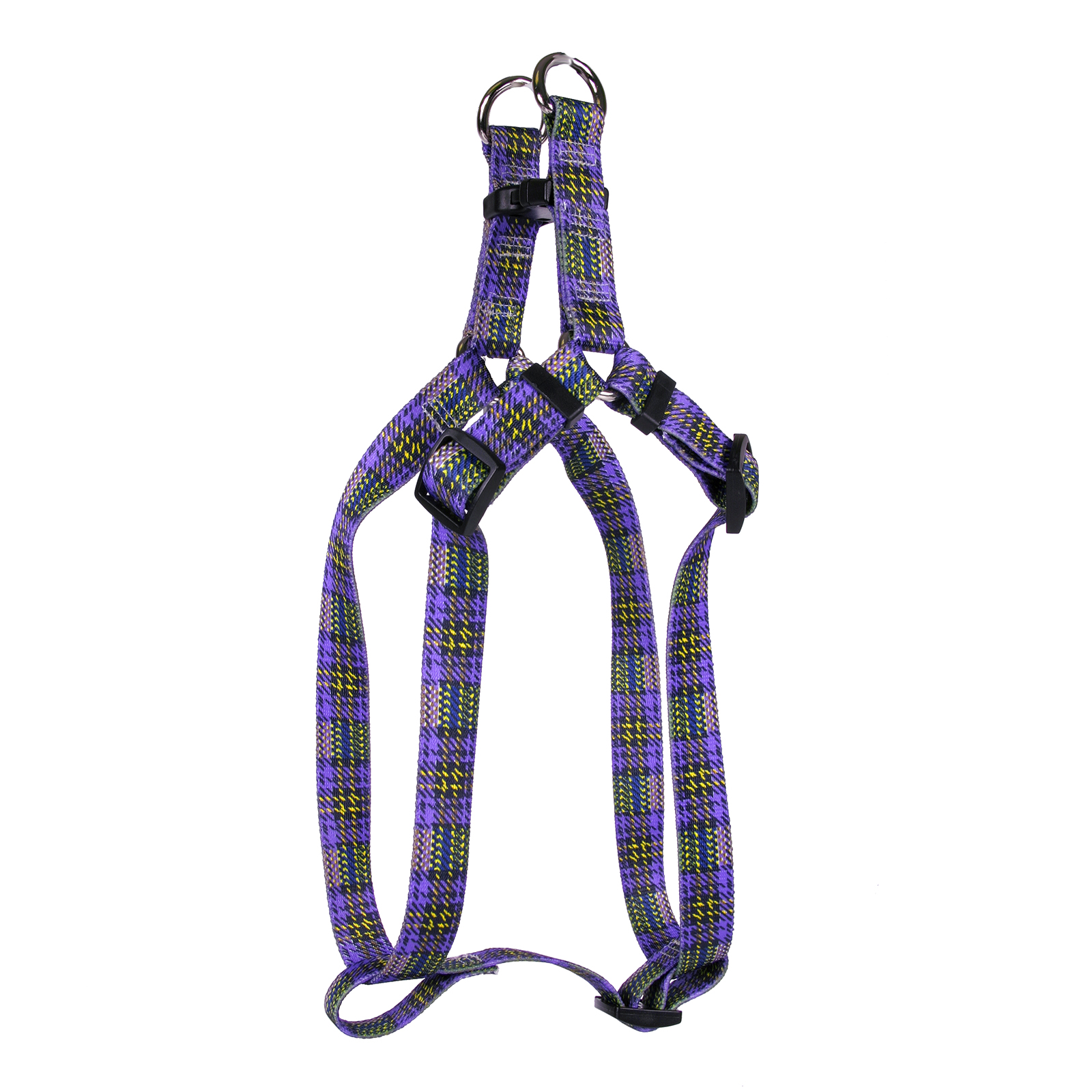 Highland Plaid Purple and Gold Step-In Harness