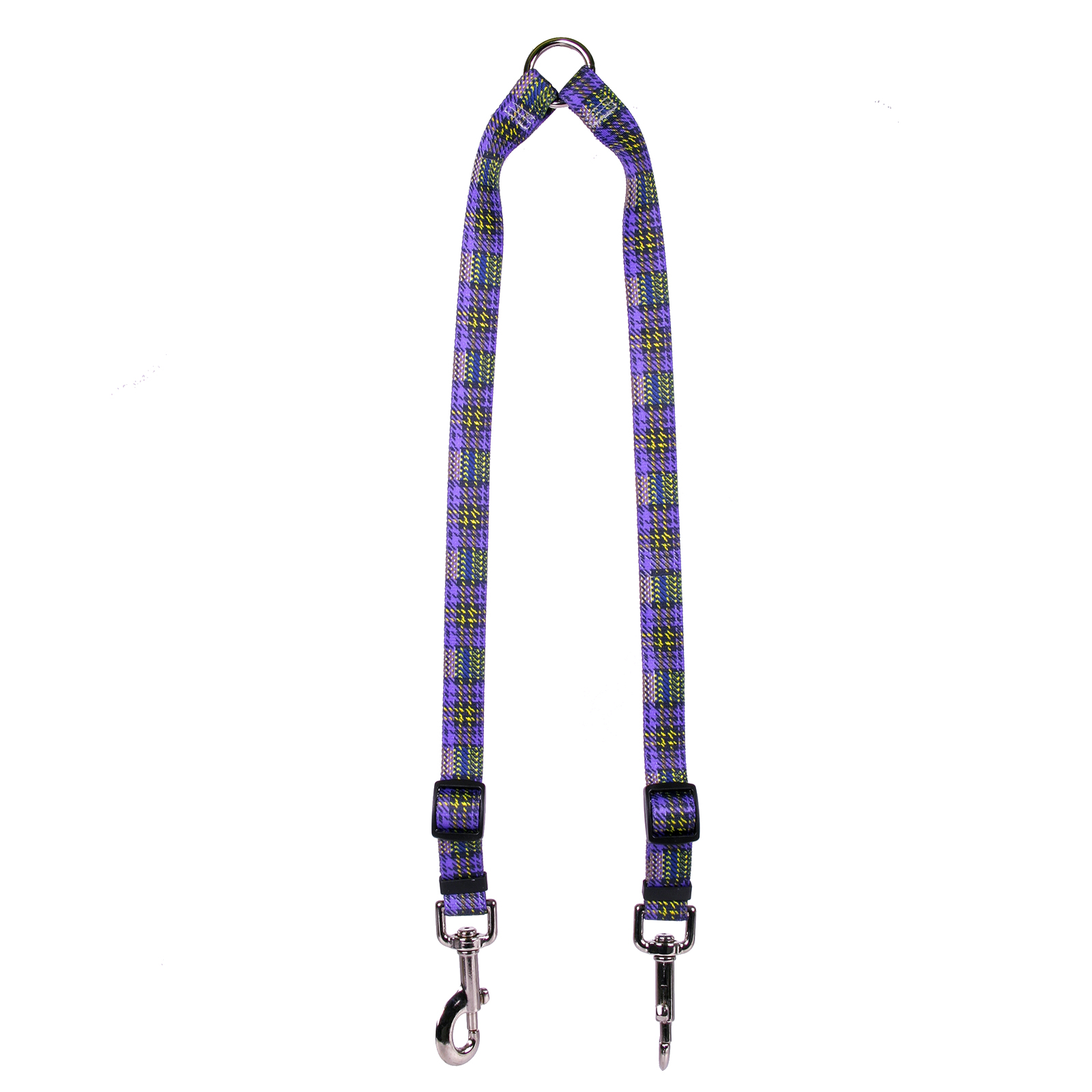 Highland Plaid Purple and Gold Coupler Lead