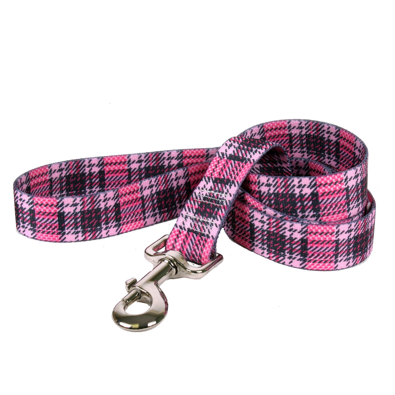 Highland Plaid Pink and Magenta Lead