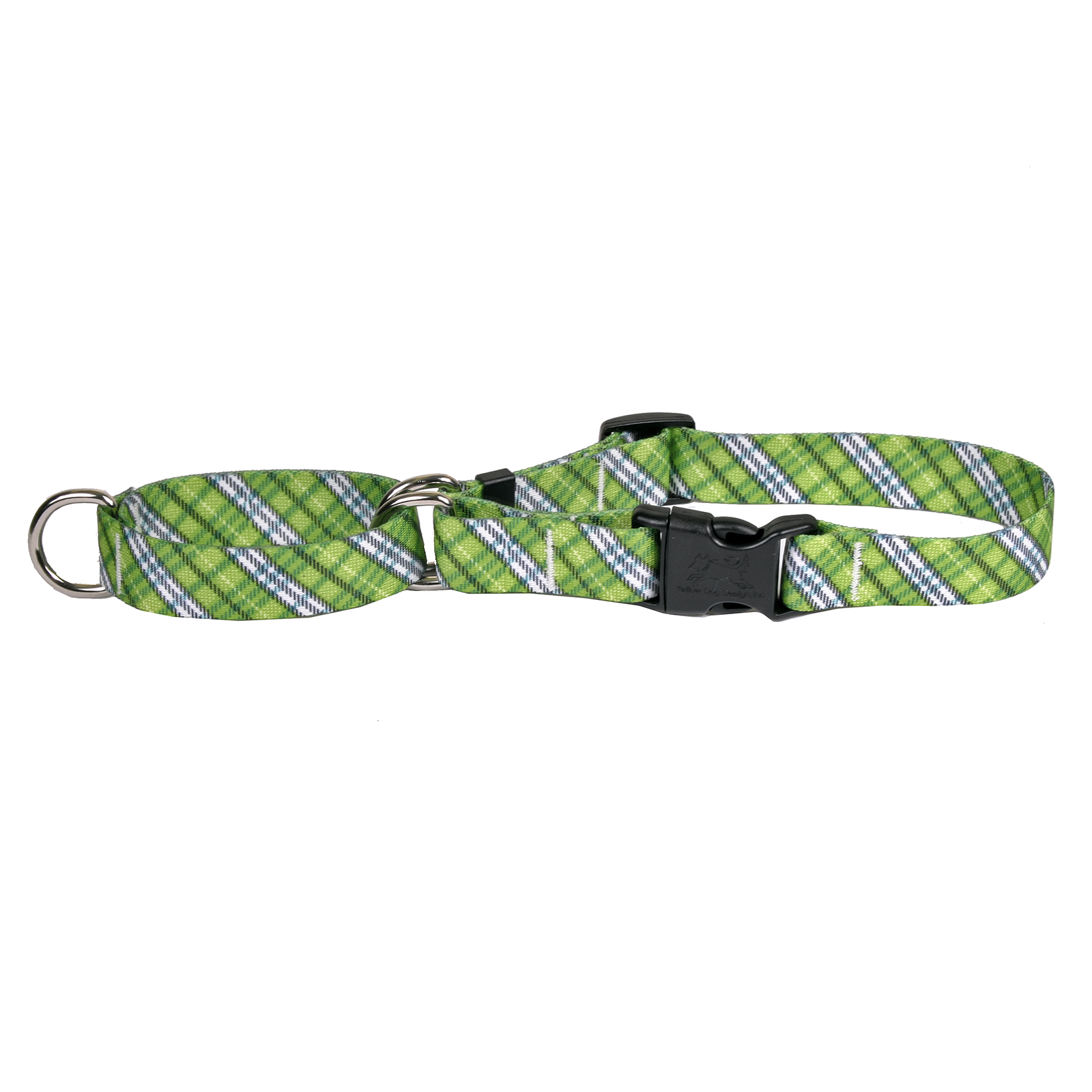 London Plaid Spring Green Martingale Collar