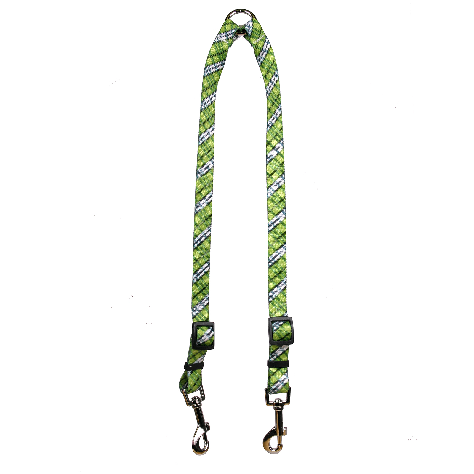 London Plaid Spring Green Coupler Lead