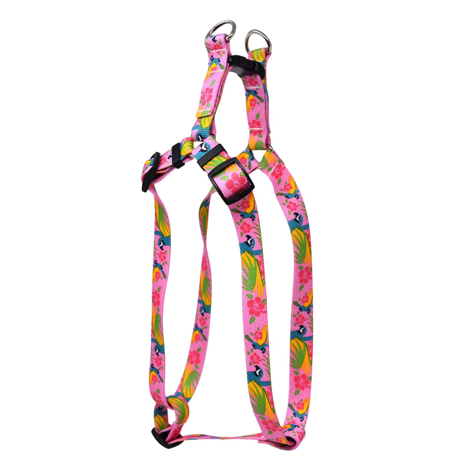 Macaw Pink  Step-In Harness