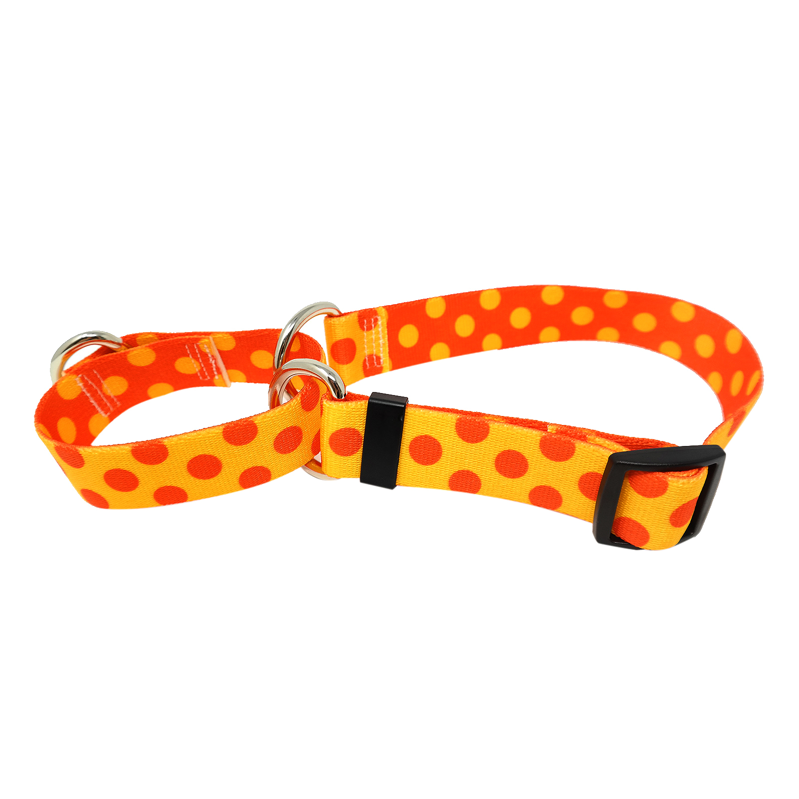 Goldenrod & Orange Polka Martingale Collar