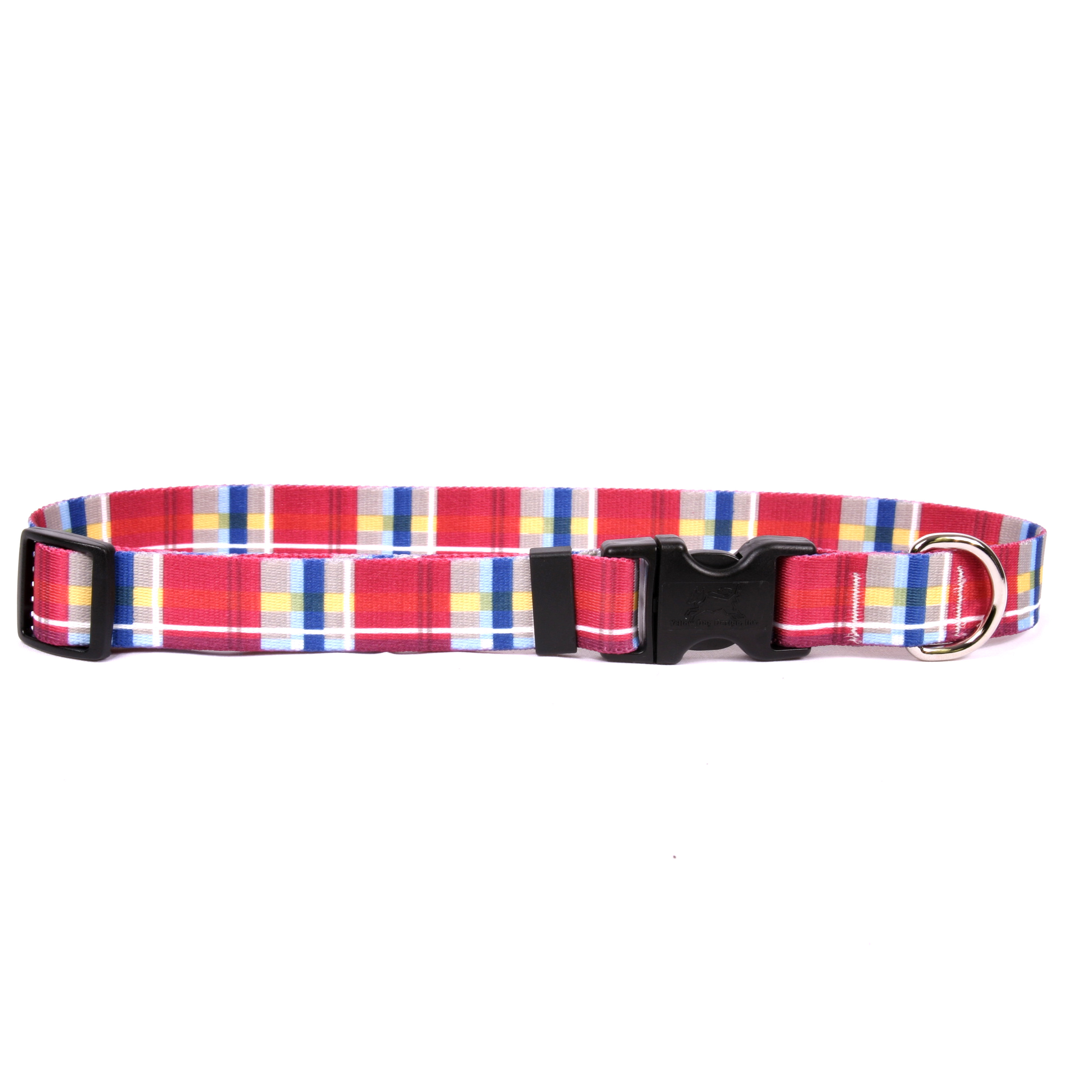 Madras Burgundy Standard Collar