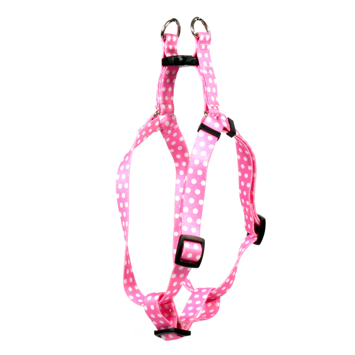 New Pink Polka Dot Step-In Harness