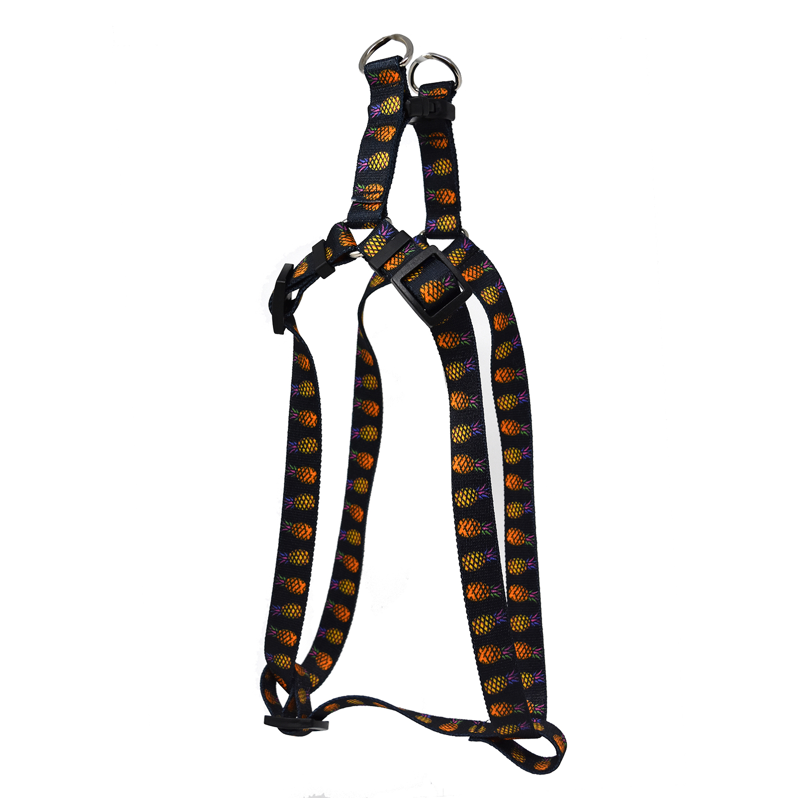 Pineapple Party Black  Step-In Harness