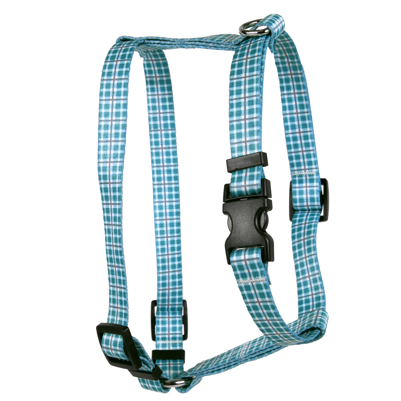 Preppy Plaid Teal & Gray  Roman H Harness