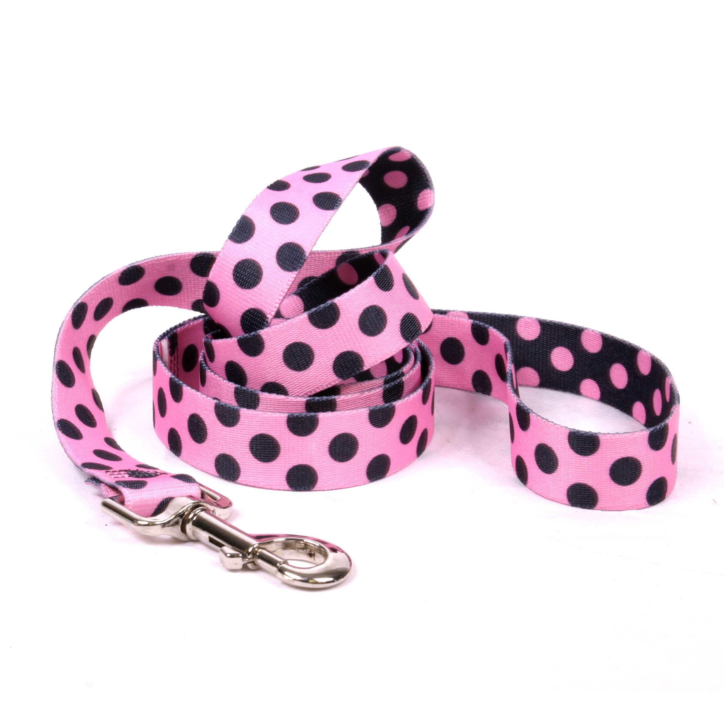Pink and Black Polka Dot Lead