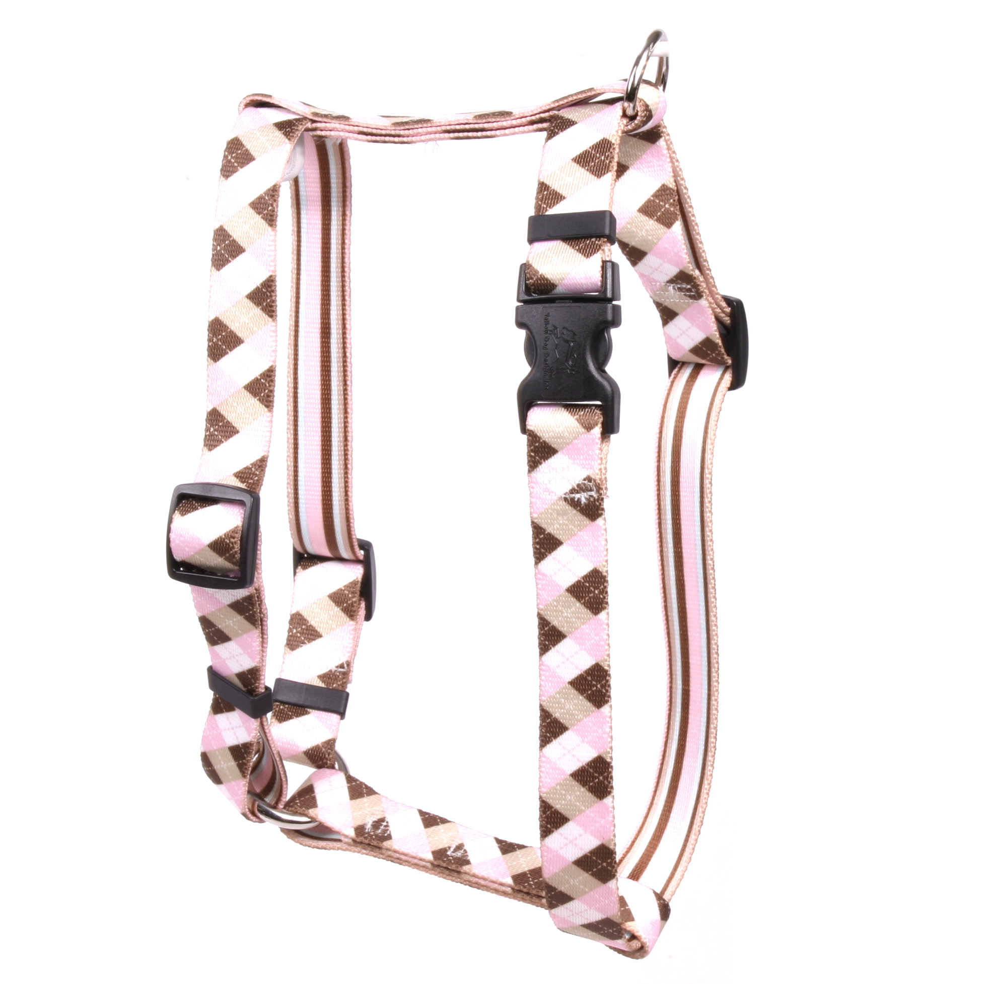 Pink and Brown Argyle Roman H Harness