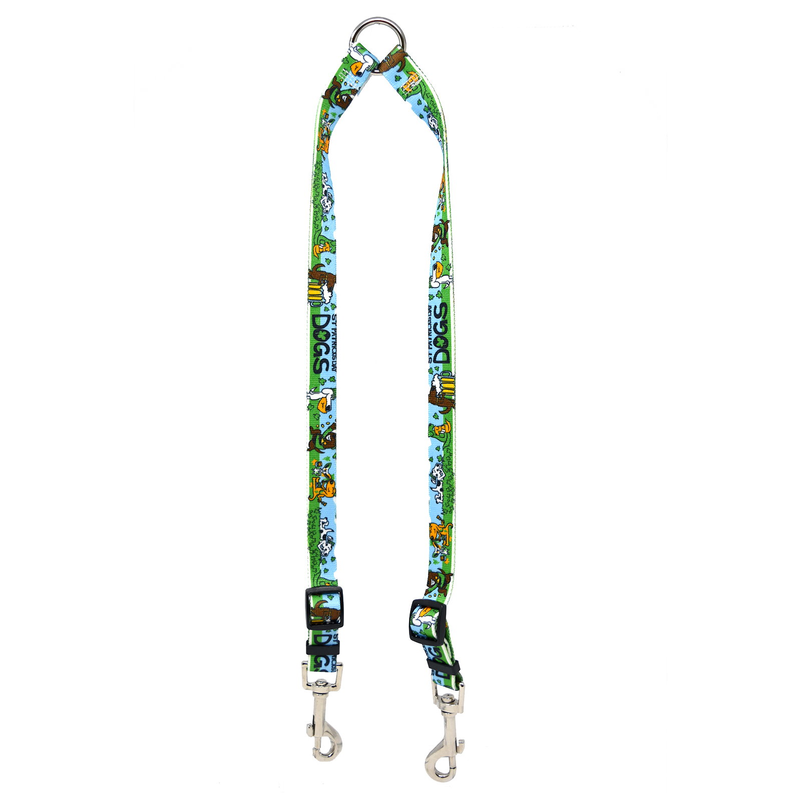 St Patricks Day Dogs Coupler Lead