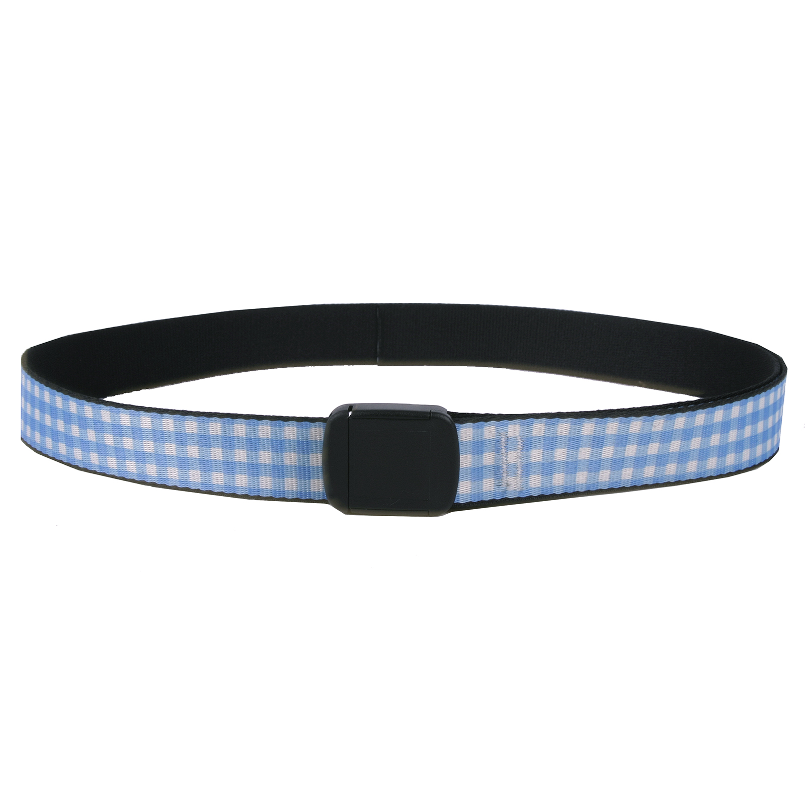 Southern Dawg: Gingham Blue Fashion Belt