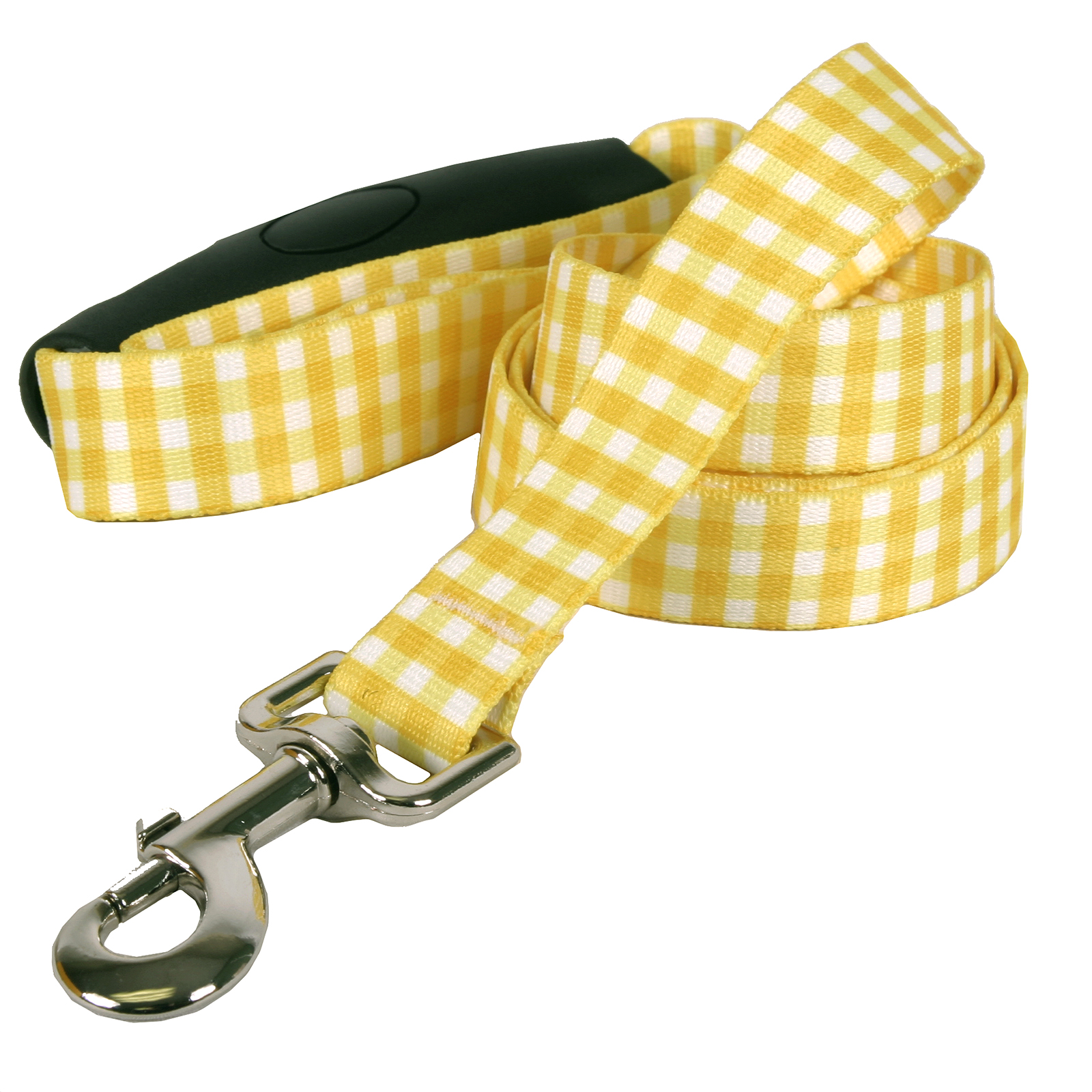 Southern Dawg: Gingham Yellow EZ-Grip Dog Leash