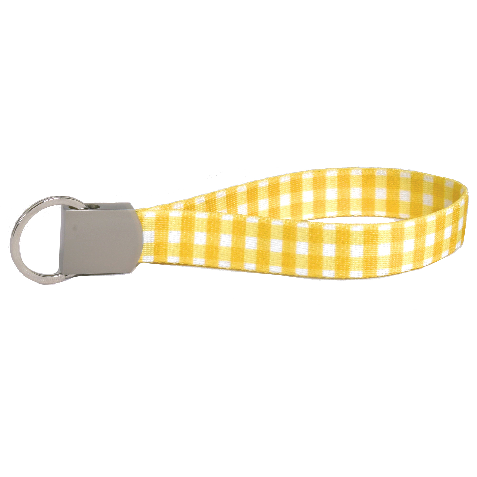 Southern Dawg: Gingham Yellow Keychain