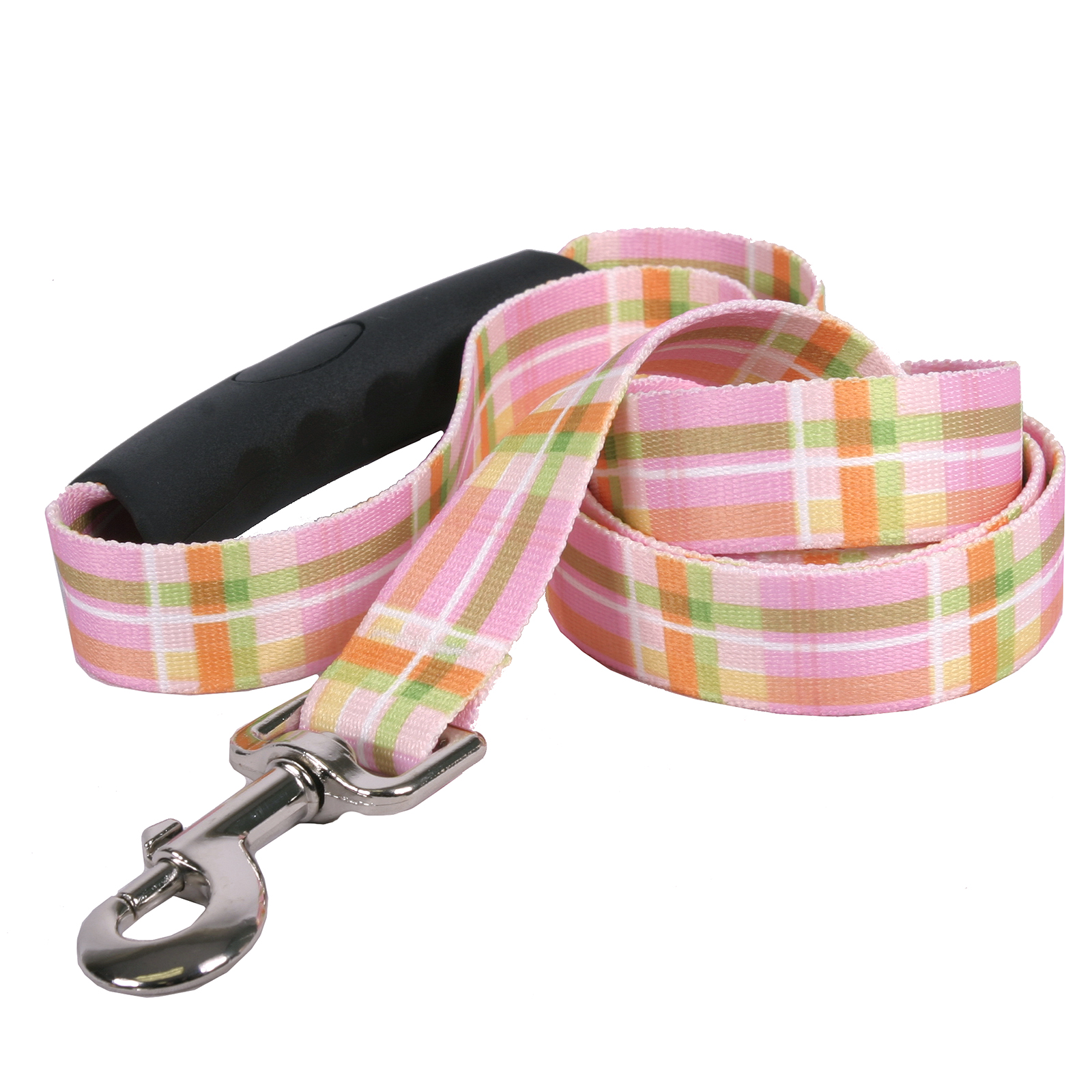 Southern Dawg: Madras Pink EZ-Grip Dog Leash
